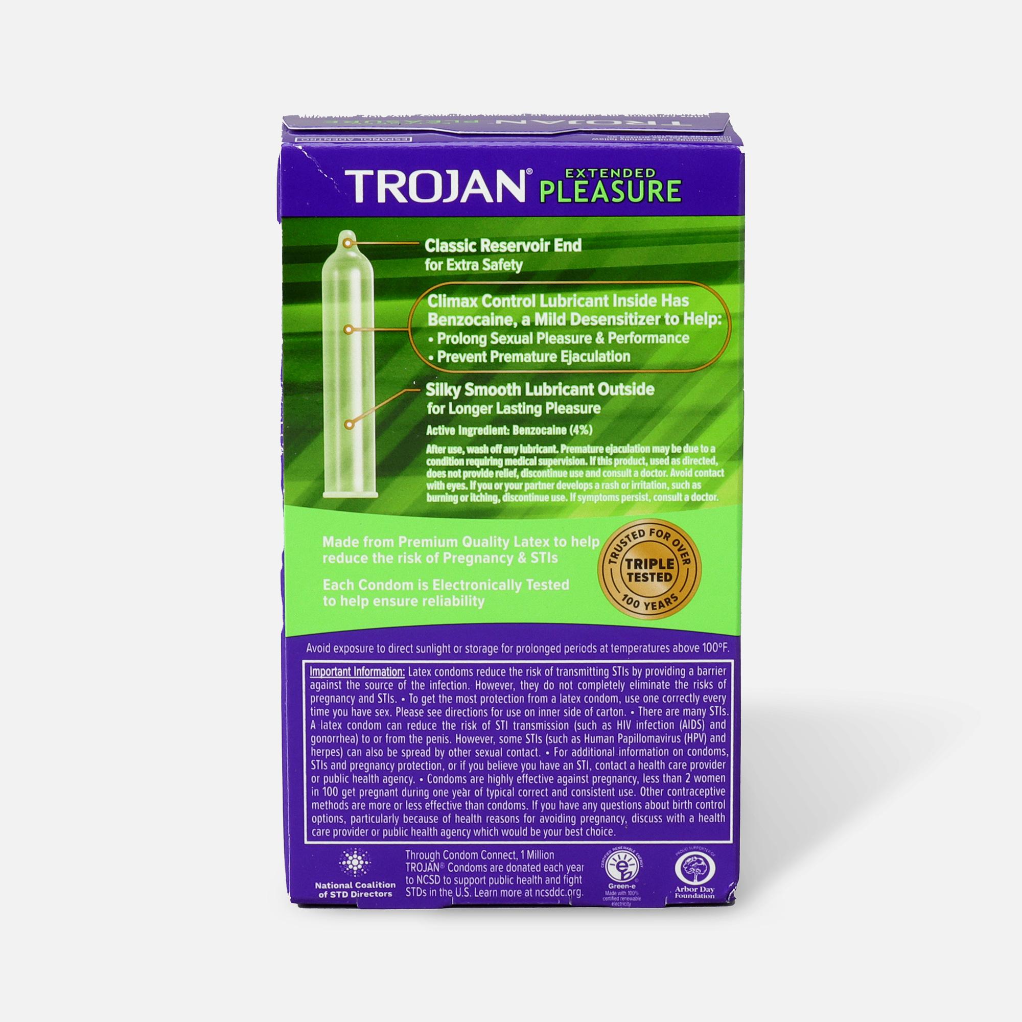 Trojan extended pleasure condoms review