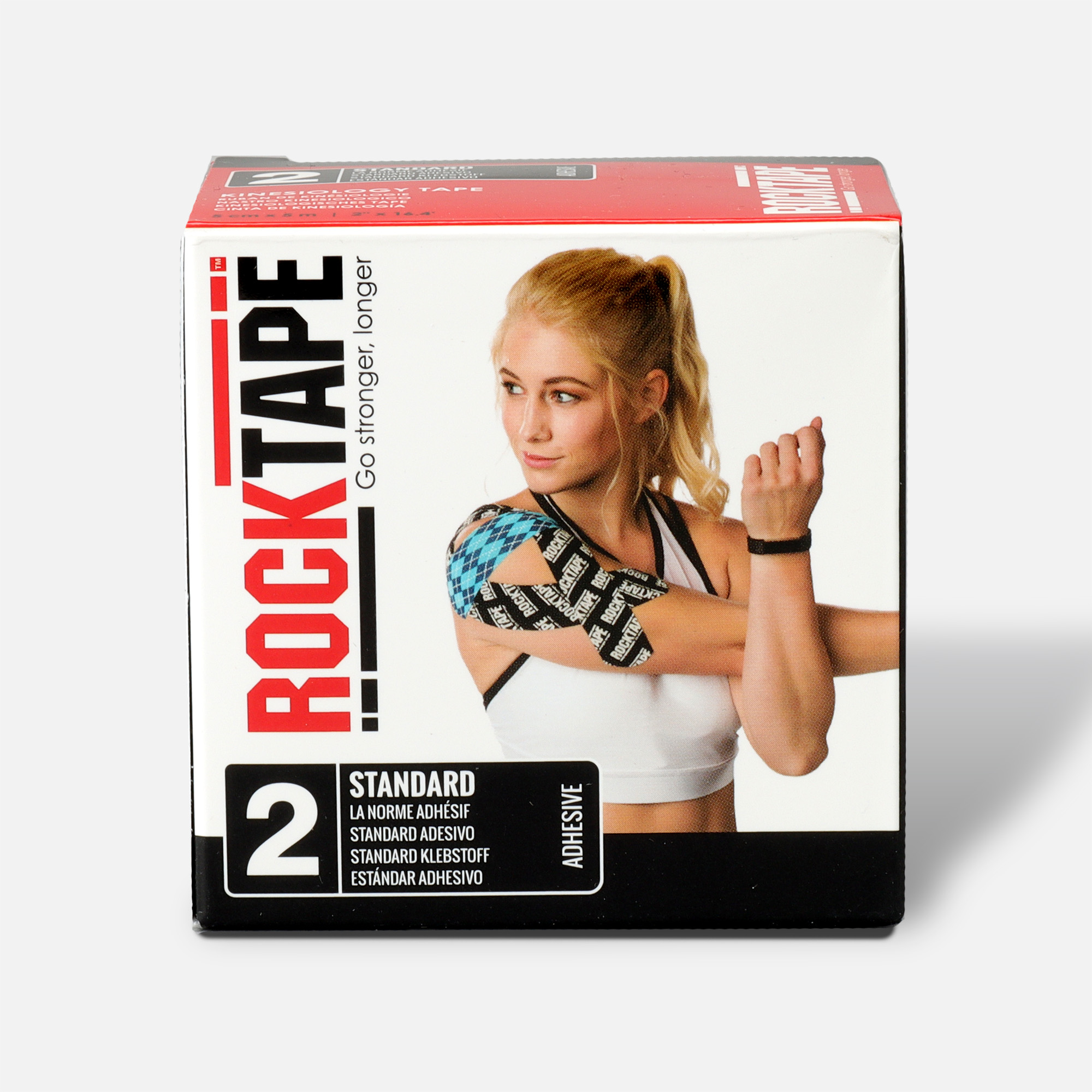 Rocktape Hypoallergenic Strong Adhesive Kinesiology Tape Roll Purple